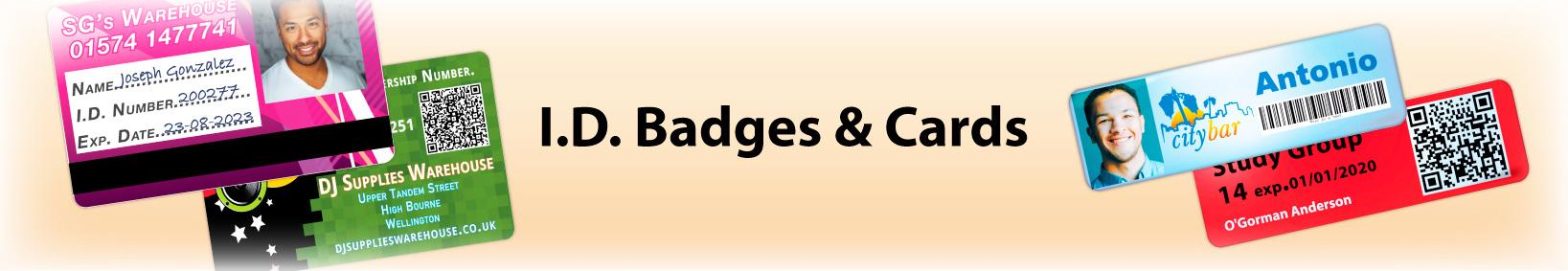 I.D. Badges & Cards