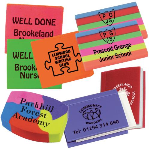 Printed School Erasers | Westfield4Schools