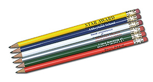 PENCIL - 4 Star Pencils With Erasers