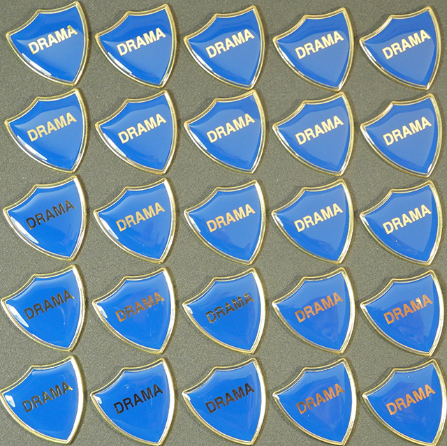 DRAMA BLUE SHIELD - Clearance Bulk Blue Drama Badges