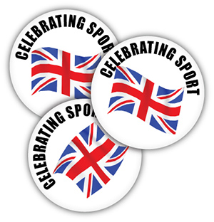Celebrating Sport 38mm Metal Button Badge