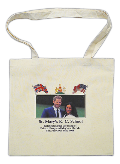 COT TOT 1 HM - Royal Wedding Cotton Tote Bags from Westfield4Schools