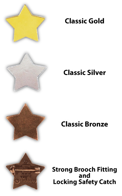 Classic Star Motivation Badges
