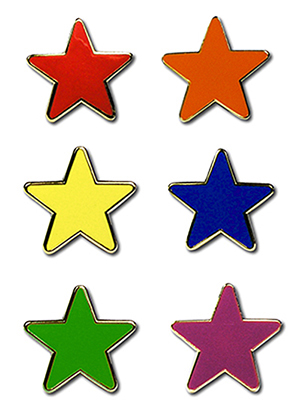 Reflective Star Motivation Badges