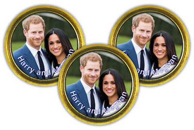 BES BADGE HM - Royal Wedding Cold Enamel Badge
