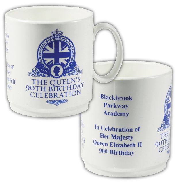 PLA MUG Q - 90th Birthday Celebration White Mug