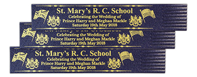 Royal Wedding Recycled Leather Bookmarks