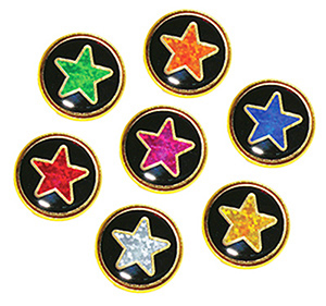 Round Star Motivation Badges
