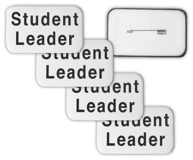STUDENT LEADER BUTTON BADGES - Clearance Student Leader Button Badges