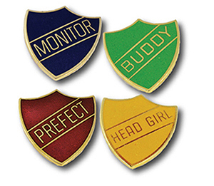 SHI BAD - Traditional Hard Enamel Shield Badges