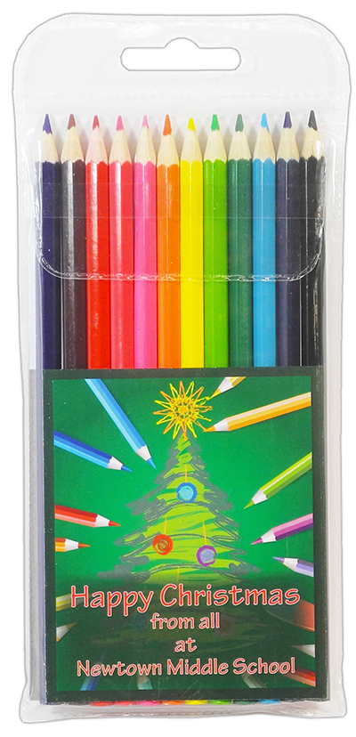 X PE6209 17 - Christmas 2017 Large Coloured Pencils