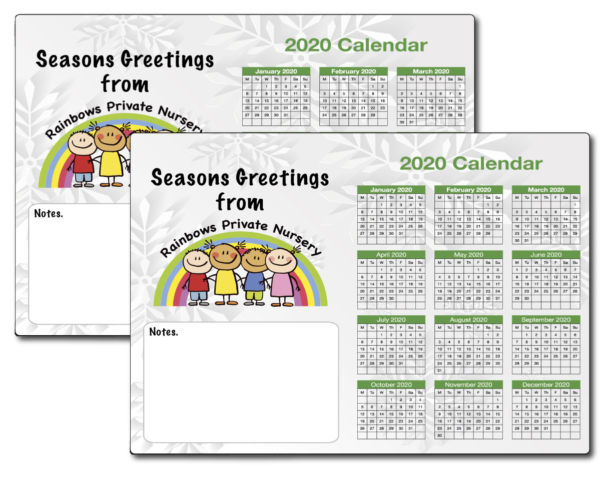 Christmas Magnetic School Calendars 2020