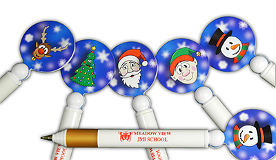 X DIS GRI 15 - Christmas Disc Gripper Pen