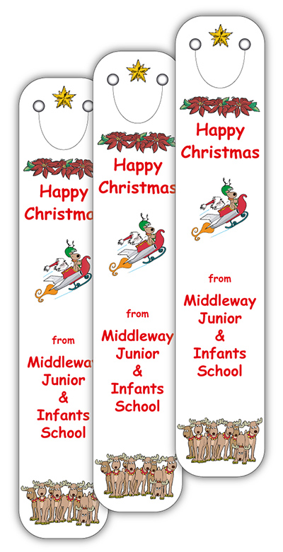 Christmas 2018 Full Colour Clip on Bookmarks