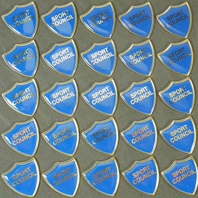 BLUE SPORT COUNCIL SHIELD - Clearance Bulk Blue Sport Council Badges