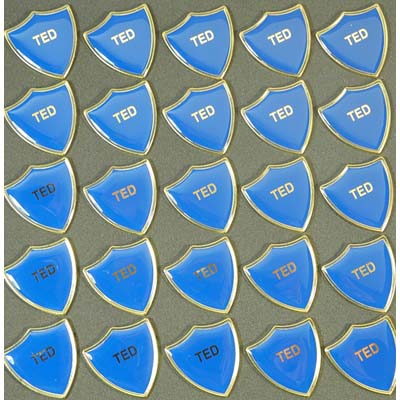 TED BLUE SHIELD - Clearance Bulk Blue Ted Badges