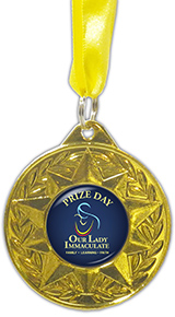 New Bespoke Cold Enamel Gold Medal