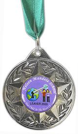 New Bespoke Cold Enamel Silver Medal