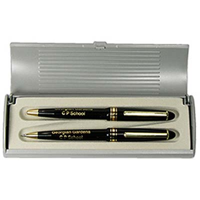 WP001/11 - Alpine Ebony Ball Pen and Pencil Set