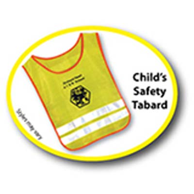 Child's Safety Tabard Printed Front or Back