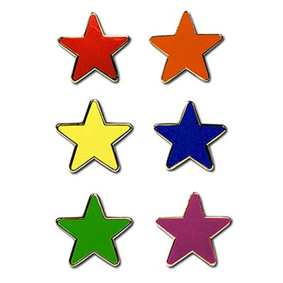STA REF - Reflective Star Motivation Badges