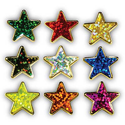 Holographic Star Motivation Badges