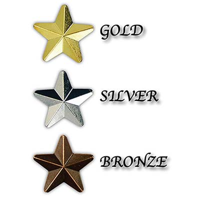 STA F - Faceted Star Motivation Badges