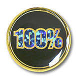 Round 100% Attendance Badge