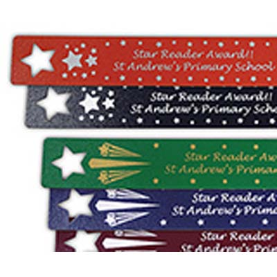 STA BOO - Recycled Leather Star Bookmarks