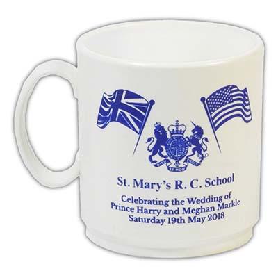 Royal Wedding Thermoplastic White Mug