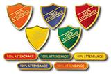 Titan 100% Attendance Badges