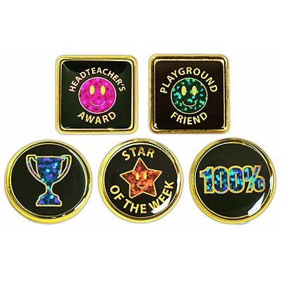 Titled Holographic Motivation Badges