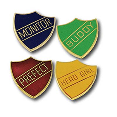 Traditional Hard Enamel Shield School Badges from