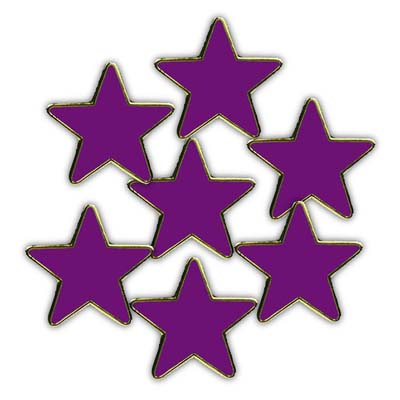PURPLE STAR - Clearance Bulk Purple Reflective Star Badges