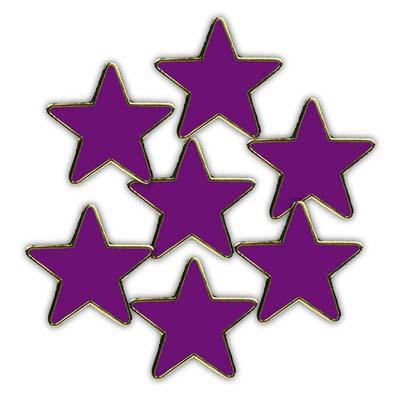 Clearance Bulk Purple Reflective Star Badges