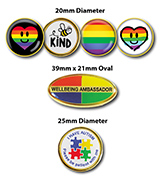 Multi Colour Wellbeing Badges