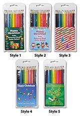 Christmas 2021 Large Coloured Pencils
