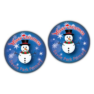 X BUT BAD 15 - Christmas 38mm Metal Button Badge