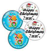Christmas 38mm Metal Button Badge