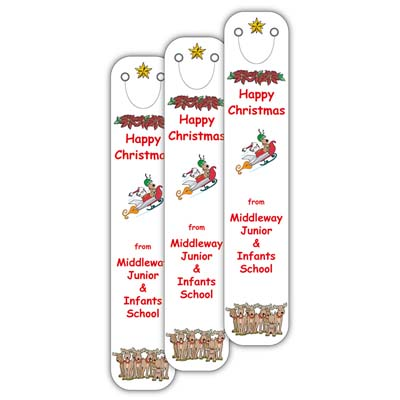 X CLI BOO L16 - Christmas 2016 Full Colour Clip on Bookmarks